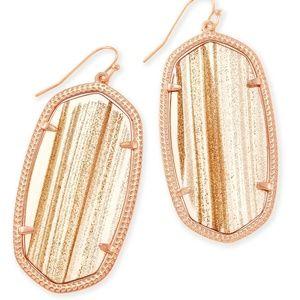 Kendra Scott Danielle Gold Dusted Glass Earrings